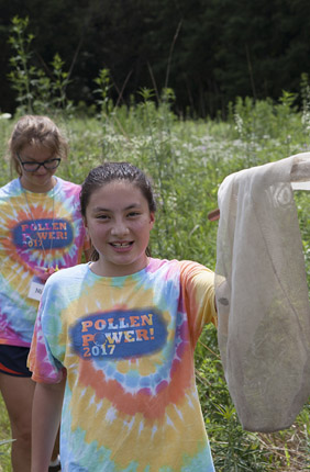 Girls learn about plants inside and out at Pollen Power camp